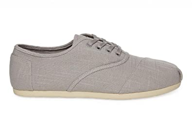 TOMS Mens Cordones Shoe Light Grey Linen Size 9.5