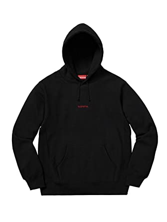 2f67d72b53b3 SupremeNewYork Supreme Trademark Hooded Sweatshirt Hoodie Black FW18 100%  Authentic Real Rare Designer (Medium
