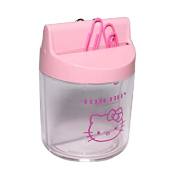 Hello Kitty - Dispensador de clips magnético, - de color rosa - 1 pcs: Amazon.es: Oficina y papelería