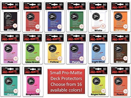600 Ultra Pro SMALL PRO-MATTE Deck Protectors MIX & MATCH (10x 60ct Packs) Sleeves YuGiOH Vanguard Size Your Choice from 17 Available Colors! [10 Packs of 60 Bundle] (Top 10 Best Yugioh Decks)