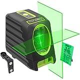 Huepar BOX-1G Niveau Laser Croix Vert, Auto-nivellement Commutable Laser Lignes avec Fonction d'impulsion, H130°/ V150° Angle de couverture, Distance de Travail 25m, Support Magnétique Incluse