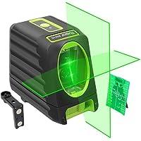 Huepar BOX-1G Niveau Laser Croix Vert, Ligne Laser Auto-nivellement avec Mode Pulsé Extérieur, Commutable Laser Lignes H130°/ V150°Angle de couverture, Distance de Travail 25m, Base Magnétique Incluse