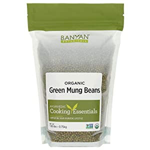 Banyan Botanicals Green Mung Beans - USDA Organic - Non GMO - For Soups, Sprouts, & Easy Digestion 1.65 lb