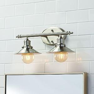 Home Decorators Collection 2-Light Brushed Nickel Retro Vanity Light