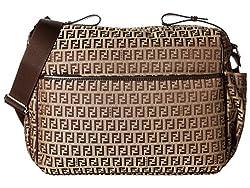 Fendi Kids All Over Diaper Bag Brown Diaper Bags