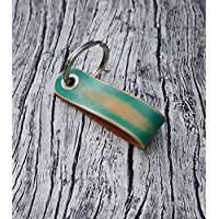 Green Leather Key Holder // Leather Keychain - Mens Keychain - Leather Key Fob - Leather Key Ring - Leather Key Chain