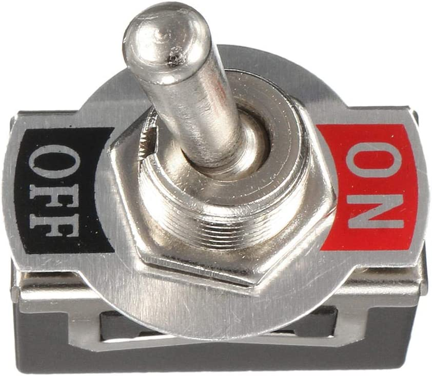 GIlH Excellway/® 12V Heavy Duty Toggle Switch Flick ON//Off Boat Light Switch Spst with Waterproof Cover