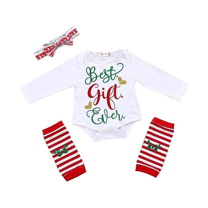 438dff87d530 Amazon.com  LNGRY Newborn Infant Baby Girls Letter Romper Tops+Leg ...