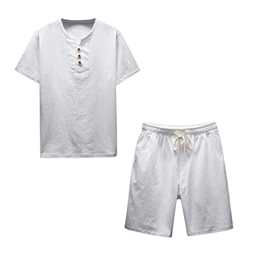 702f6d36ff Amazon.com  NEARTIME Clearance! ❤ Men Shirt Set