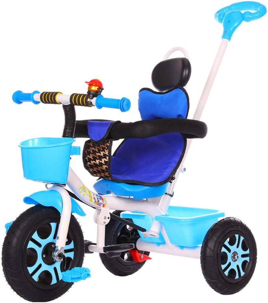 ZzheHou Triciclo para niños Juguete Walker for niños con Material ABS Respetuoso con el Medio Ambiente con Pedales 3 Rondas de Bicicletas for niños 1-6 años Niños Triciclo para niños Plegables: Amazon.es: