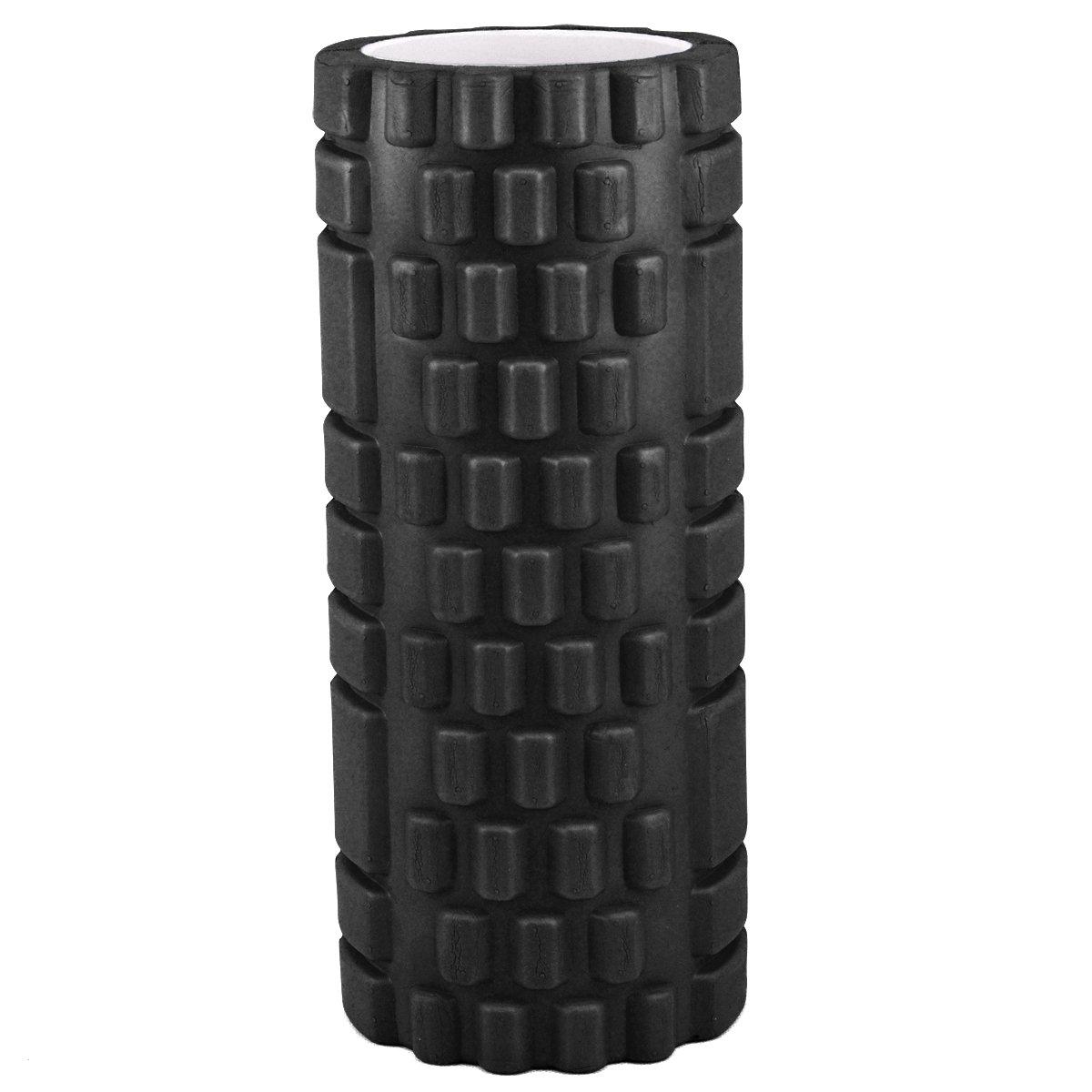 /34/cm x 14/cm etc/ tinkertonk/ Pilates Deportes Negro /con Textura Punto gatillo Ejercicio Yoga Rodillo de Espuma para Gimnasia Physio