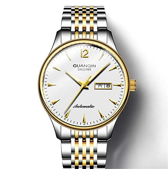 Reloj Suizo, Doble Calendario, luz Nocturna, automático, Impermeable, maquinaria, Reloj, C: Amazon.es: Relojes