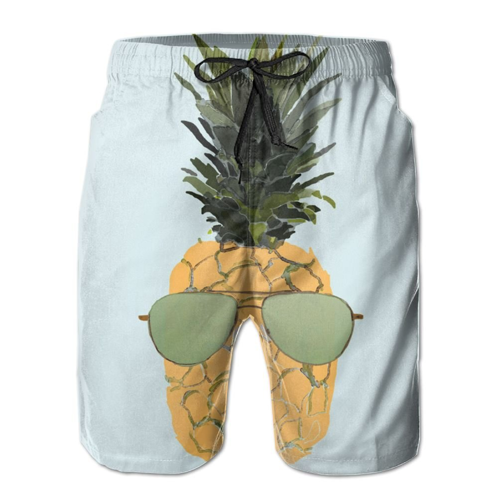 Mens Beach Shorts, Pineapple Sunglasses Sexy Hot Shorts for Men Boys, Outdoor Short Pants Beach Accessories