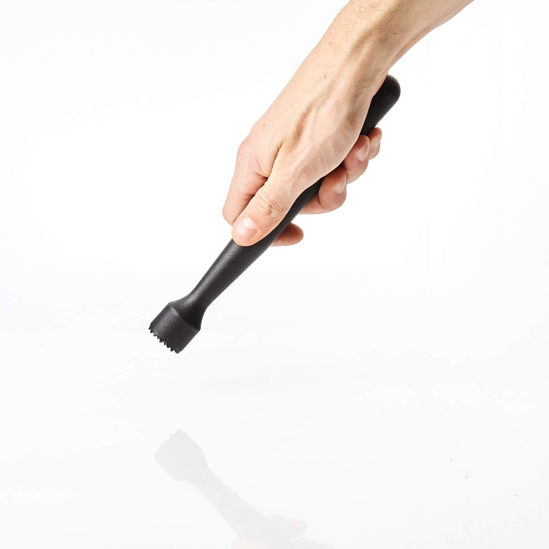 Kerafactum® - Mortero Mortero Mortero para eiszerkleinerer de hielo bar de cócteles mano de mortero Caipirinha cóctel accesorios Crasher - negro con sierra: ...