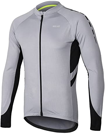 ARSUXEO Men s Full Zipper Long Sleeves Cycling Jersey Bicycle MTB Bike Shirt  6030 4d7af9208