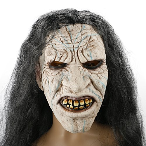 Scary Evil Clown Mask,Zombie Face Latex Mask,Halloween Costume Party Mask for Masquerade/Birthday Parties,Carnival Decorations (Spirits Halloween 2017)