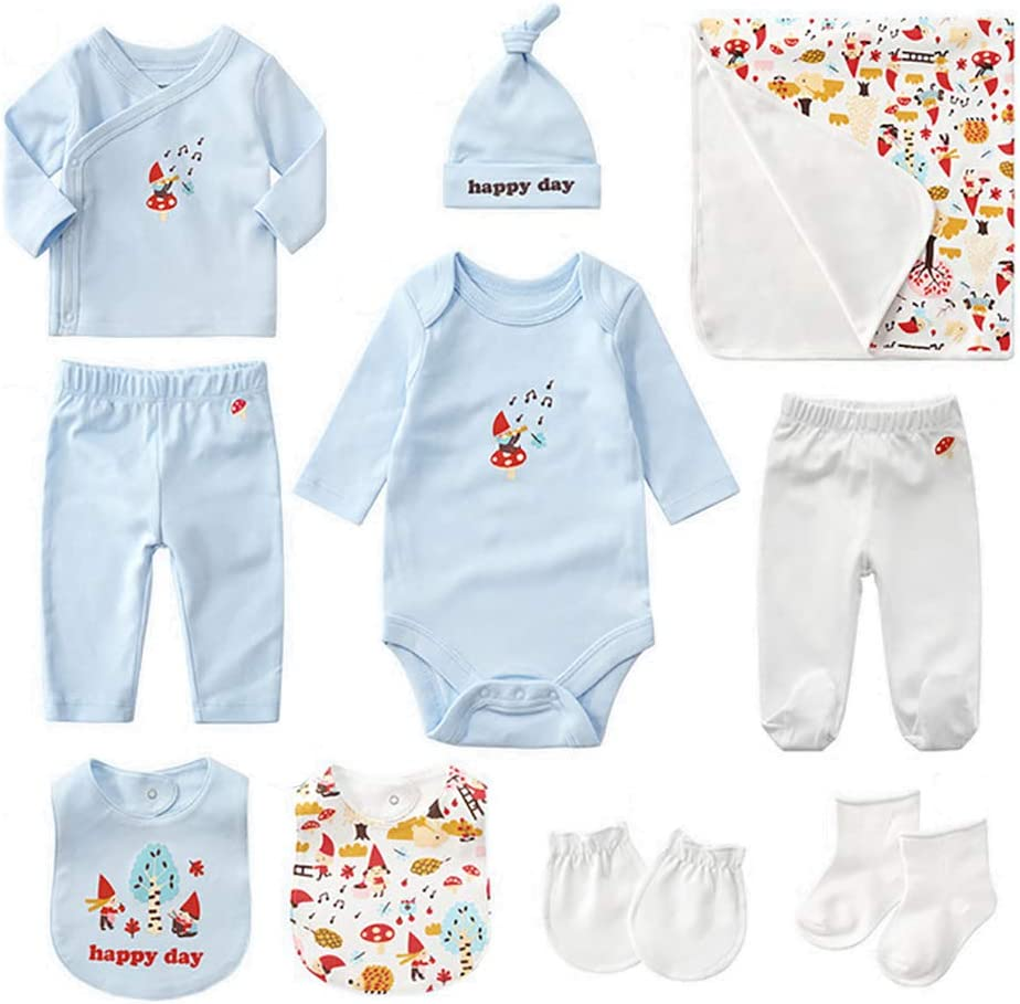 TYUE Newborn clothes gift set, 8 pieces Baby Gift Set - Newborn