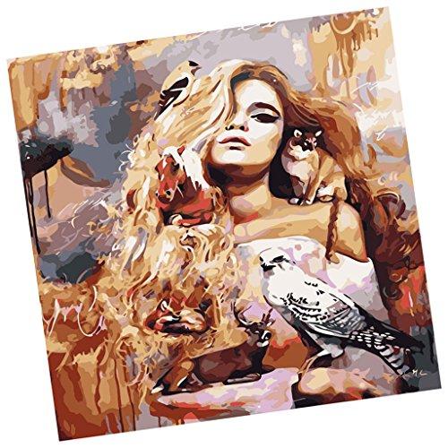 Baosity DIY絵 数字油絵 デコレーション 女の子のデザイン 壁掛けの商品画像
