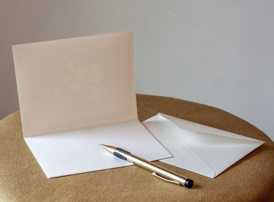Fine Art Note Card Snowman and Deer Item No. 08-016-00