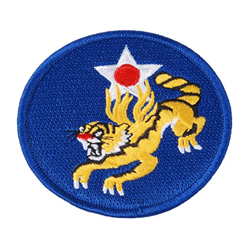 Heerpoint Reproduction WW2 US Flying Tigers Air Force Embroidered Insignia - Wwii Patches Air Force