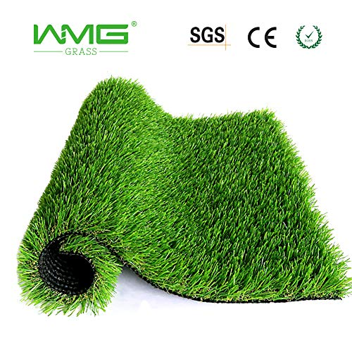 WMG Premium Artificial Grass 20''x24'' Pet Turf w/Drainage Holes & Rubber Backing Green Synthetic Pet Grass Mat Fake Grass for Training Dogs Home Indoor/Outdoor Decorations, 1 Pack ()