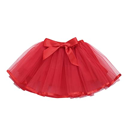 3235487bf feiXIANG Linda Princesa del bebé Vestido Tutu niño niña Color sólido Arco  Tutu Falda de Rendimiento Falda de Ballet Fiesta de Lujo Falda