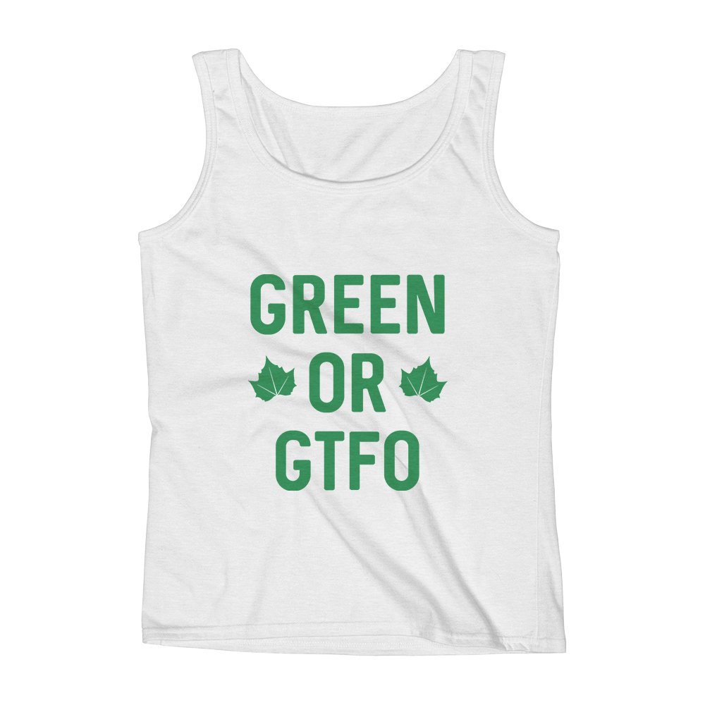 Mad Over Shirts Green Or GTFO Unisex Premium Tank Top