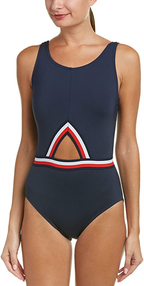 Amazon.com: Tommy Hilfiger Women s Signature rayas Cut-Out ...