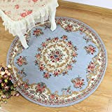 DXG&FX European carpet non-slip round chair mat bedroom mat-D diameter200cm(79inch)