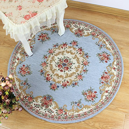 DXG&FX European carpet non-slip round chair mat bedroom mat-D diameter200cm(79inch) by DXG&FX