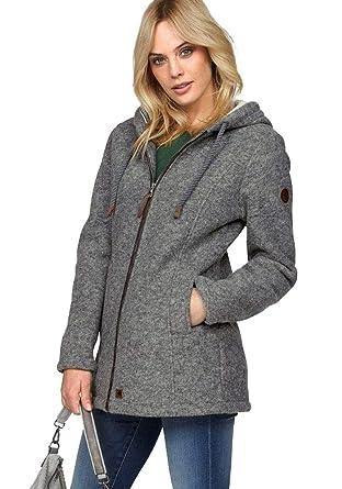 cheaper 3d8d8 c04f1 Redpoint Damen Wolljacke Jacke warm (Grau, 44): Amazon.de ...
