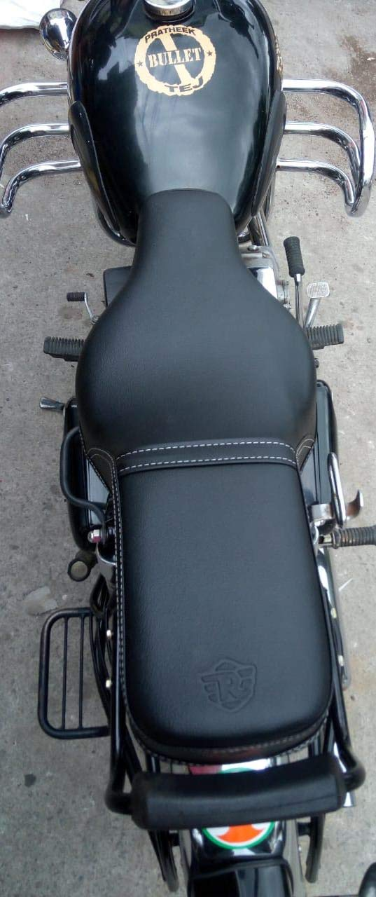 SaharaSeats Royal Enfield Bullet 350/500 Cushion Seat Cover (Electra and  Standard) Black