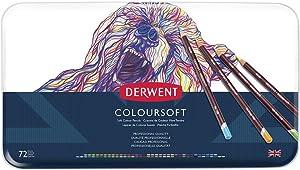 Derwent Colored Pencils, ColourSoft Pencils, Drawing, Art, Metal Tin, 72 Count (0701029)
