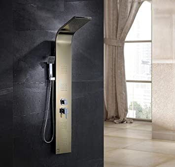 Amazon.com: Sistema de torre de panel de ducha de acero ...