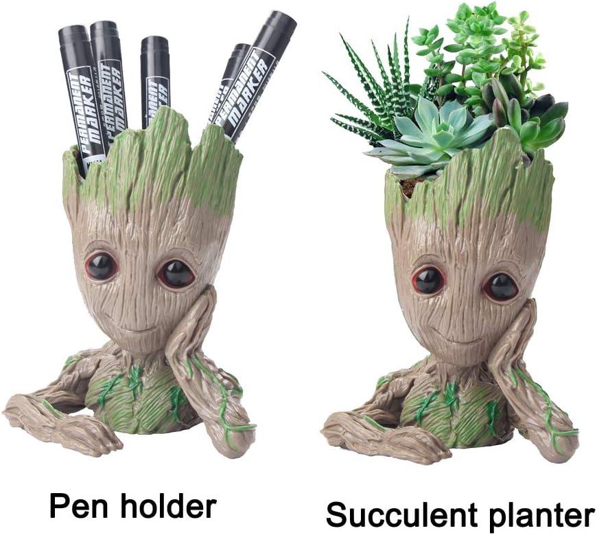Flowerpot Treeman Baby Groot Succulent Planter Cute Green Plants Flower Pot