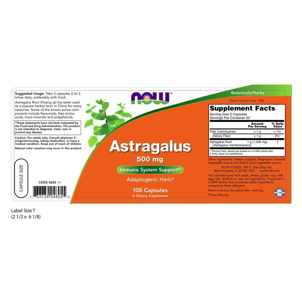 Buy Now Foods Astragalus Immune System Support 500 Mg 100 Voucer Shodaqo Nuril Capsules Online At Low Prices In India