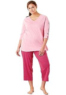 7ff89041cc95e Dreams   Co. Women s Plus Size 2-Piece Capri Pj Set at Amazon ...