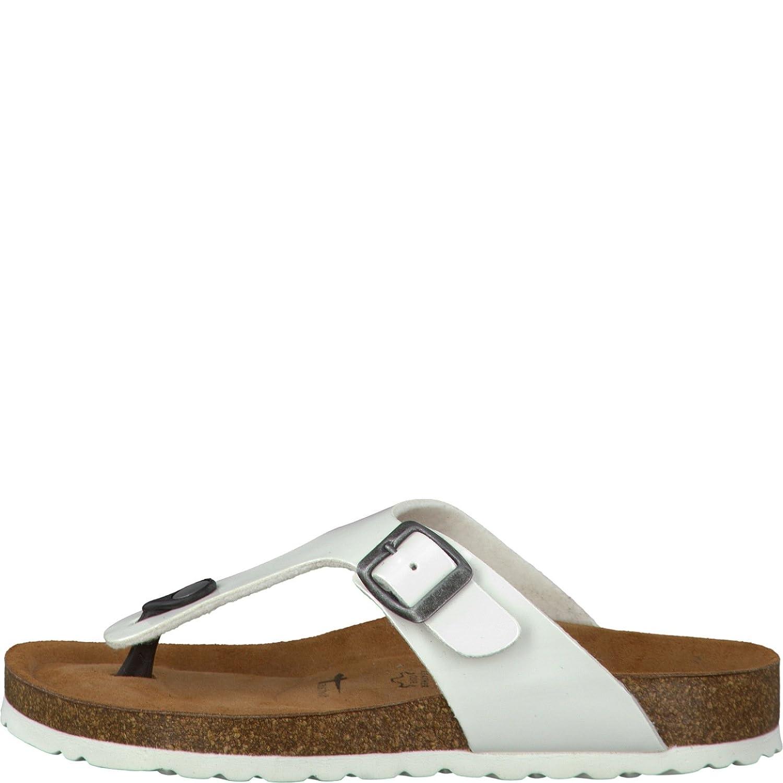Tamaris 1-1-27150-30 Damen Zehentrenner, Sandale, Sandalette, Pantolette, Sommerschuhe für Die Modebewusste Frau Weiß (White), EU 38
