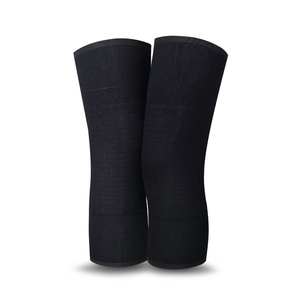 UDOARTS Cashmere Knee Warmers(1 Pair) (Black Wave)