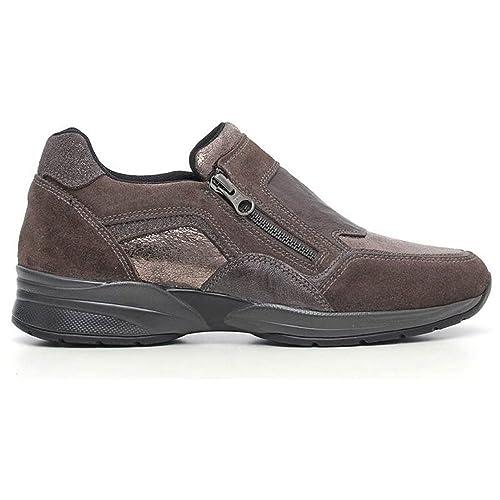 Sneaker Donna in Pelle Marrone A616032D 103 Nero Giardini