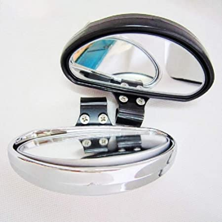 Shentesel 2Pcs Car Blind Spot Rearview Mirror Wide Angle Rear Side View Reference Black