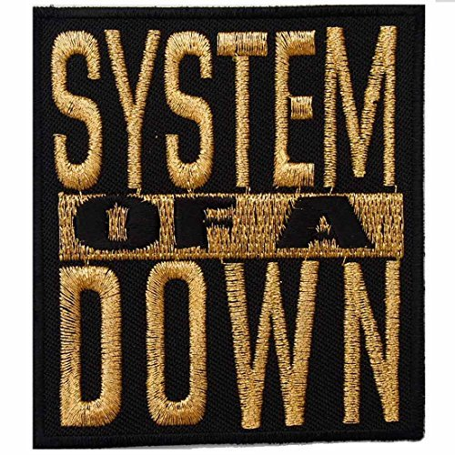 System of a Down heavy metal punk rock band Iron On Patches Gold # WITH FREE GIFT (System Rock)
