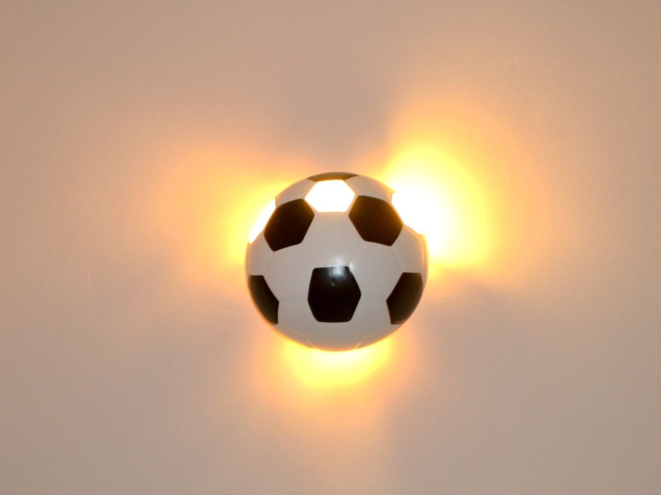 Lampe luminaire sport foot bALL applique murale pour éclairage pour ...