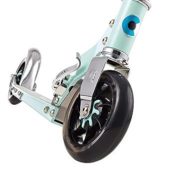 Micro Speed+, Patinete 2 Ruedas, Amortiguación Mediante rodamientos inyectados en siliMicro 3,75kg, Carga Máx 100k, Manillar Aluminio Telescópico ...