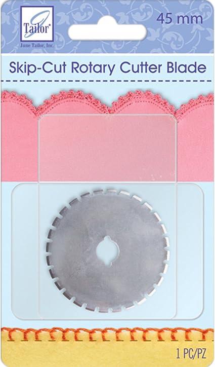 June Tailor Rotary Cutter Blade Refill 45mm 1//Pkg-Wide Skip Cut