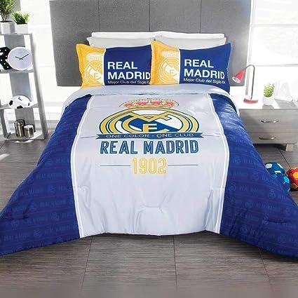In Real Madrid Edredon Matrimonial 3pc Ninos Futbol
