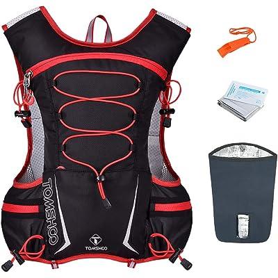 TOMSHOO Mochila Hidratación 2L,Running Mochila, Impermeable y Transpirable, para Correr, Marathoner, Senderismo, Camping, Caminar, Escalada, Actividades al Aire Libre