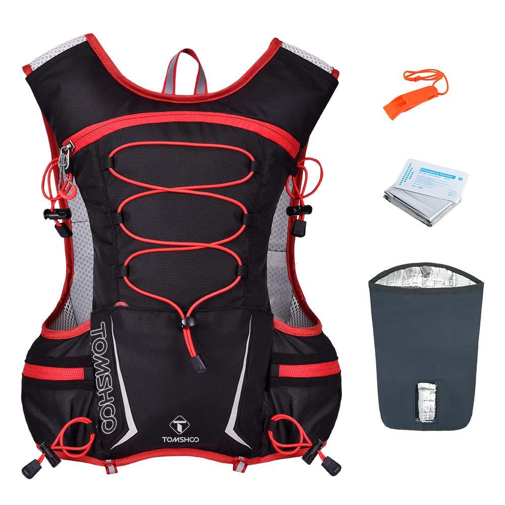 TOMSHOO Mochila Hidratación 2L,Running Mochila, Impermeable y Transpirable, para Correr, Marathoner