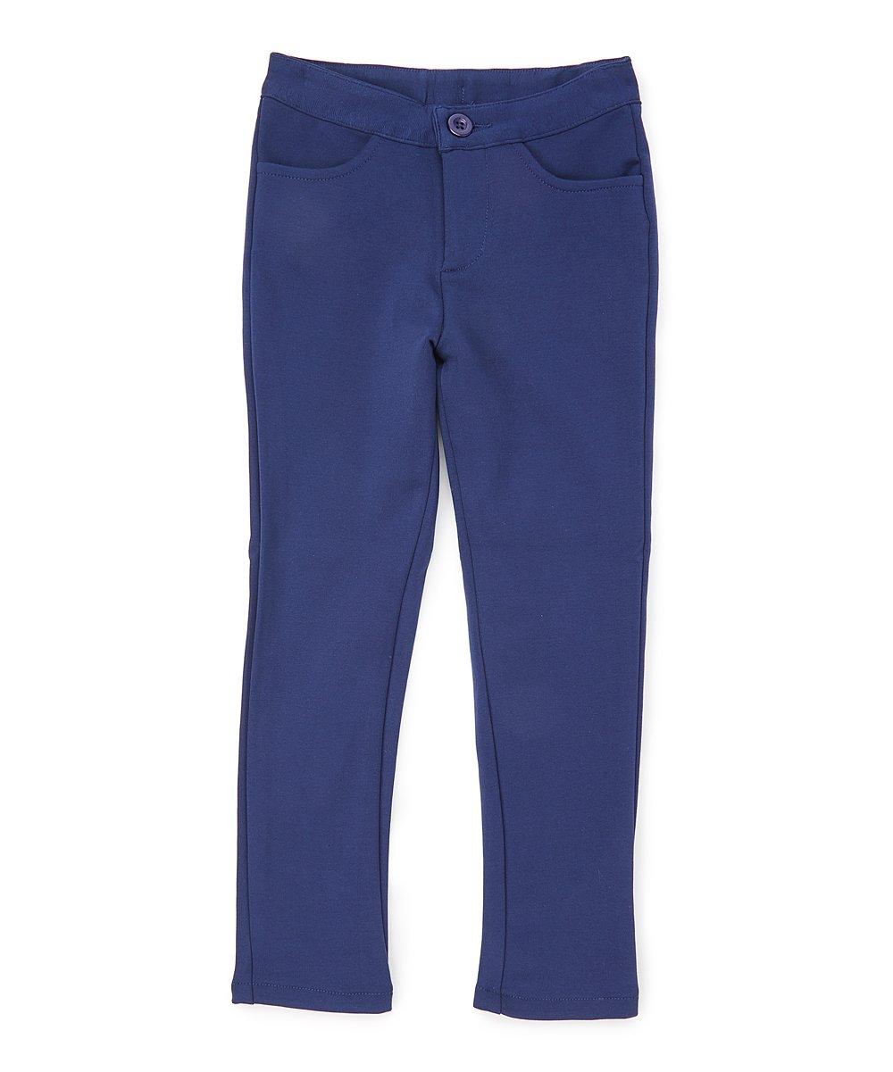 unik Girl Premium Stretch School Uniform Pants Size 5-16 Black Navy Khaki GU06