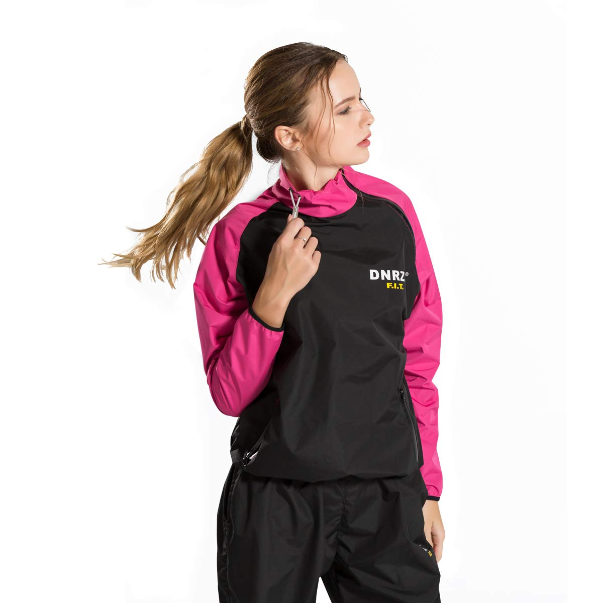 DNRZY F.I.T Sweat Sauna Suits for Women Weight Loss Slimming Clothes Lose Weight Fat Burner Durable Long Sleeves Running Workout Cloth